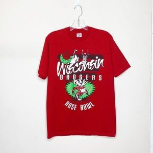 Vintage University Wisconsin Rose Bowl Red Shirt